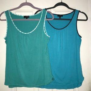 Two Limited sleeveless shirts Medium 💚💙